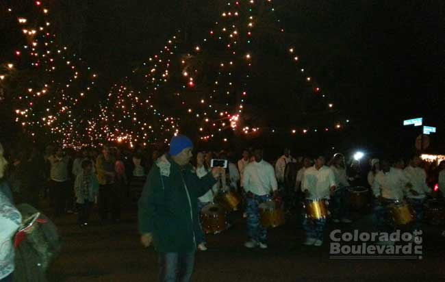 Christmas Tree Lane in Altadena 2014 (Photo - Staff). - The Story Of Altadena Christmas Tree Lane ColoradoBoulevard.net
