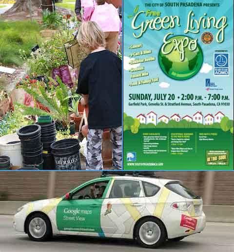 Sun July South Pasadena Green Living Expo Car Show - Pasadena car show