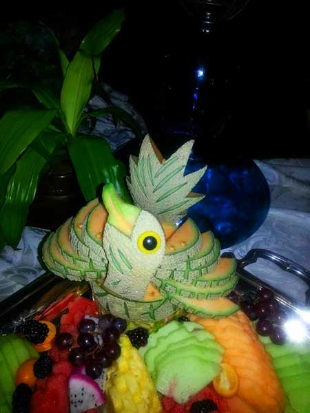 Fruit arrangement art (Photo - Kathabela Wilson).