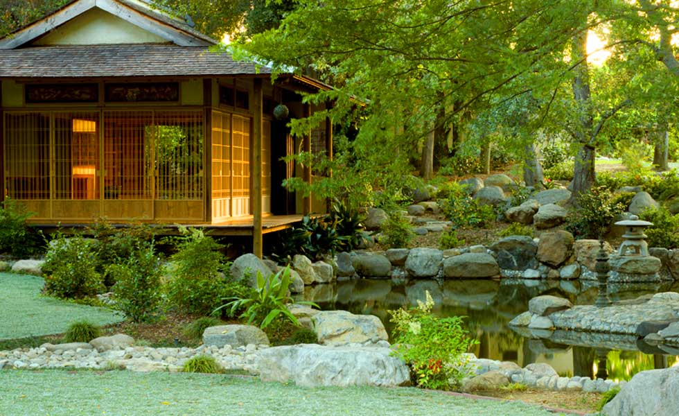 Tea House At Storrier Stearns Japanese Garden In Pasadena Photo