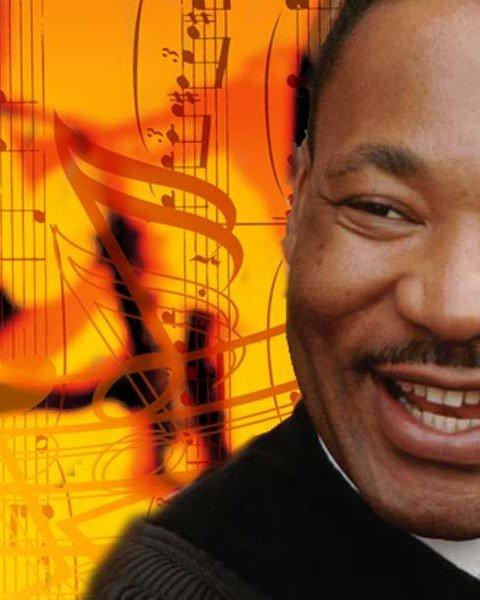 MLK and Jazz (Photo - Graphic Dept.).