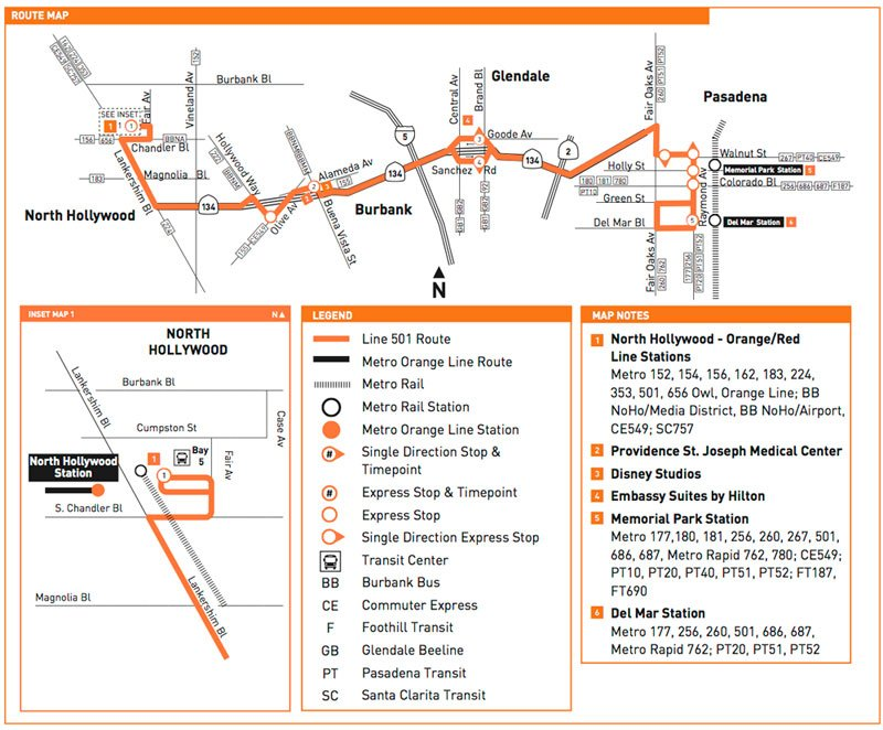 Bus 501 route map ColoradoBoulevardnet