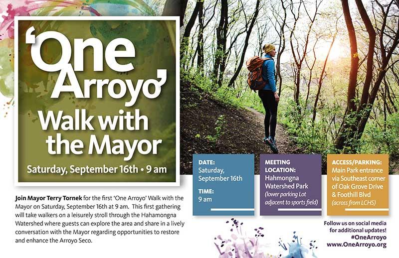 'One Arroyo' Walk with the Mayor Flyer