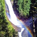 """Wallace Falls, Washington, USA """"The touch of a rainbow in a waterfall. What else could you ask for?"""" (Photo - Nicholas Klacsanzky)."""